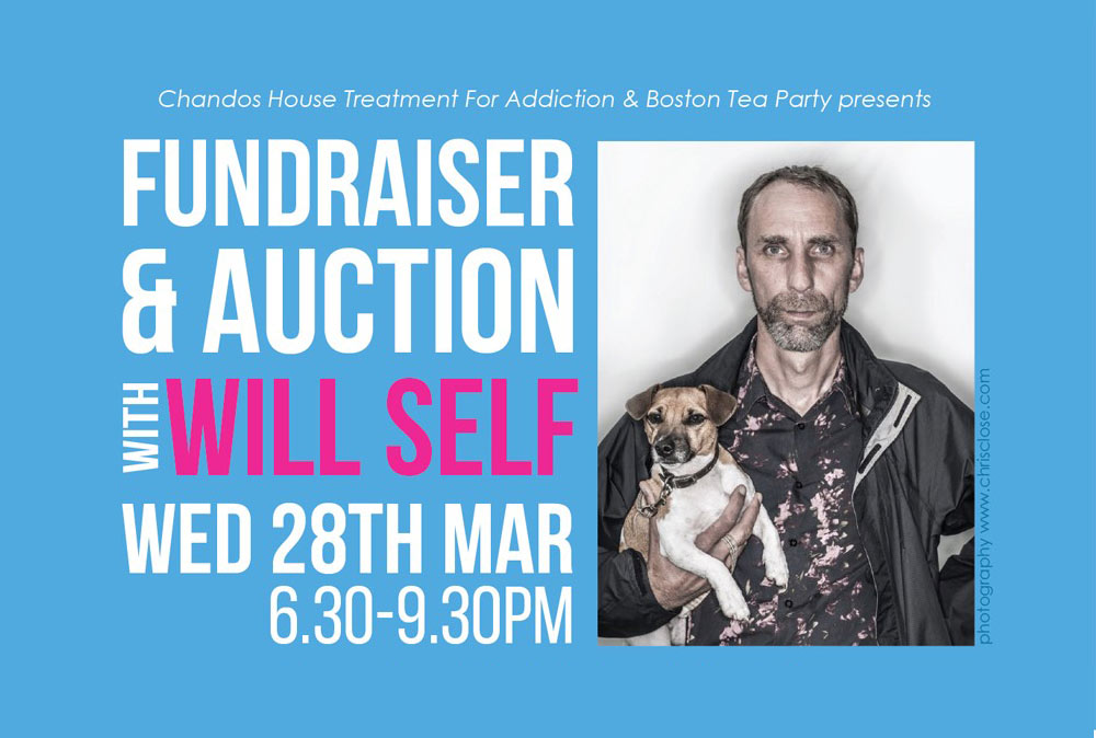 Chandos Fundraiser and auction with Will Self on Wed 28th March